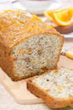 Orange cake with poppy seeds, dried apricots, walnuts and honey Royalty Free Stock Photos