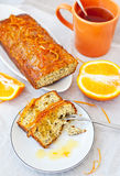 Orange cake with poppy seeds and zest Stock Image