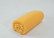 Orange cake roll Stock Images