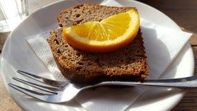 Orange cake slice Royalty Free Stock Images