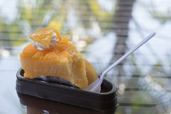 Orange cake. Soft orange cake Eat Soft orange cake Stock Images