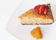 Orange Cake with Strawberry Stock Image