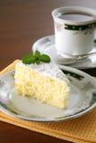 Orange cake and tea Stock Image