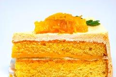 Orange cake on white background Royalty Free Stock Images