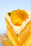 Orange cake on white background Stock Photo