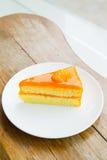 Orange cake. Royalty Free Stock Photo