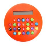 Orange calculator Royalty Free Stock Image