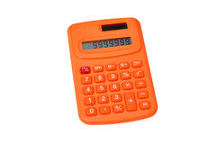 Orange calculator Royalty Free Stock Photography