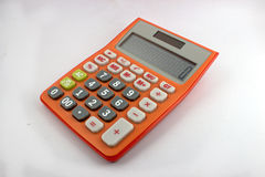Orange calculator. Placed on a white background Stock Photography