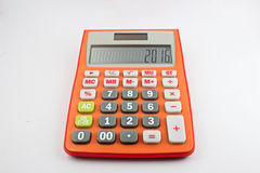 Orange calculator. Put on a white background Royalty Free Stock Images