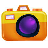 Orange camera Stock Photography