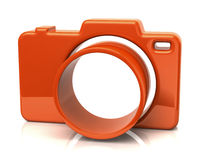 Orange camera icon. 3d illustration of orange camera icon Royalty Free Stock Photo