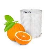 Orange can Stock Photography