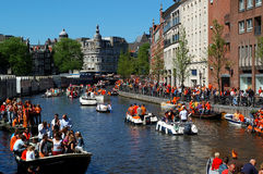 Orange canal Royalty Free Stock Images
