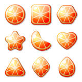 Orange Candies For Match Three Game Royalty Free Stock Images