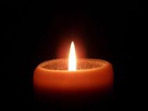 Orange Candle stock image