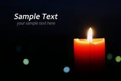 Orange candle Royalty Free Stock Image