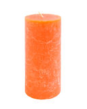 Orange candle Stock Image