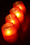 Orange candles Stock Photography