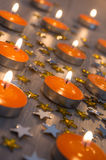 Orange Candles Royalty Free Stock Images