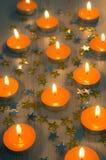 Orange Candles Stock Photo
