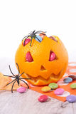 Orange and candy Stock Photography