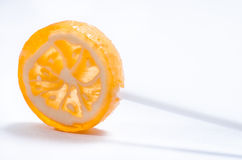 Orange candy lollipop. Stock Photography