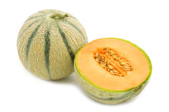 Orange cantaloupe melon Stock Photo