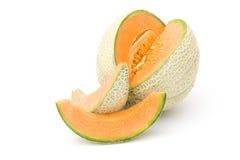 Orange cantaloupe melon Stock Photography