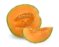 Orange cantaloupe melon Royalty Free Stock Images