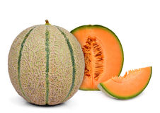 Orange cantaloupe melon Stock Image