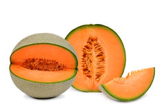 Cantaloupemelon arkivfoto
