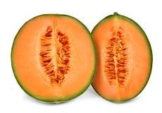 Orange cantaloupmelonmelon royaltyfri fotografi