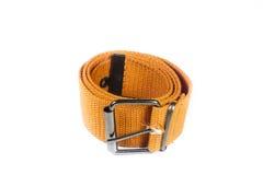Orange canvas belt Royalty Free Stock Photography