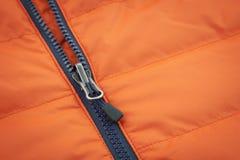 Orange canvas with ziplock background Stock Photo