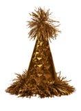 Orange cap. Orange new year cap. Isolated on white Royalty Free Stock Images