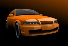 Orange car Stock Photography