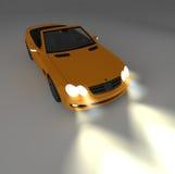 Orange car 4 Royalty Free Stock Photos