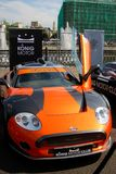 Orange car exponent at Moscow City Racing Royalty Free Stock Photo