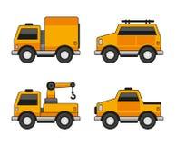 Orange Car Icons Set. Vector Stock Photography