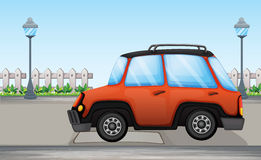 An orange car Royalty Free Stock Images