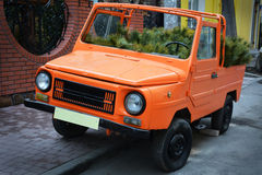 Orange car Royalty Free Stock Photography