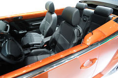 Orange Car interior Stock Photos