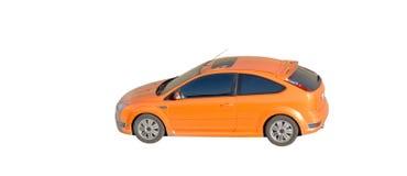 Orange car isolated. Over white Royalty Free Stock Photos