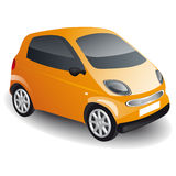 Orange car Royalty Free Stock Image
