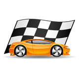 Orange car. Royalty Free Stock Photography