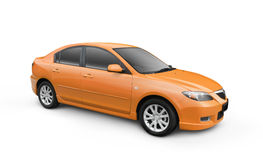 Orange Car w/ Clipping Path. Orange car. Vector path included to easily crop out car from background Stock Image