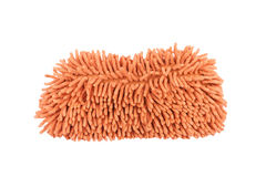Orange car wash glove on white background Royalty Free Stock Photo