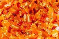 Orange caramels Royalty Free Stock Image