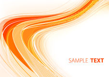 Orange card design royalty free illustration